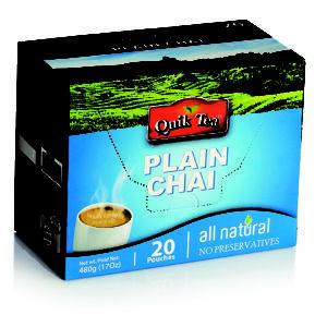 Plain Chai Tea Latte - 20 Pack