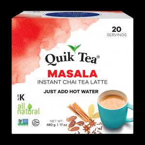 QuikTea Masala 20 pack Front of box