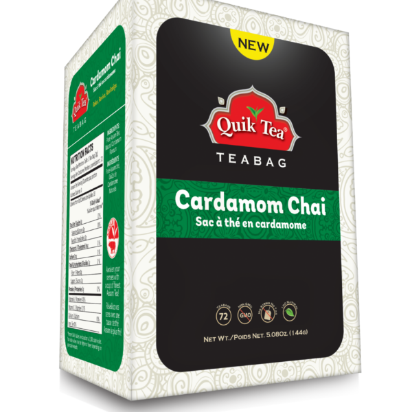 Cardamom Tea Bags 72 count - New Pack