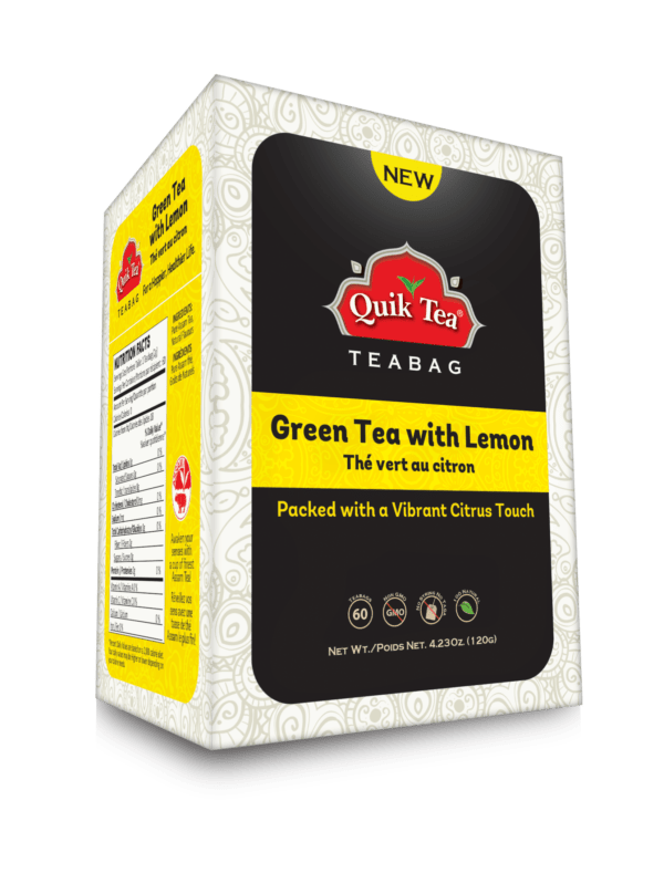 Green Tea with Lemon Tea Bags - New Pack
